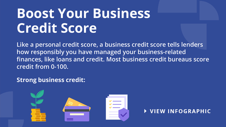 Business Credit Score Infographic